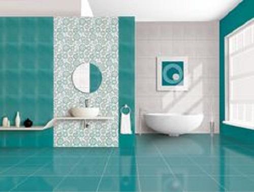Sự kết hợp giữa xanh và trắng vẫn là hoàn hảo. WC sẽ trở nên rộng rãi hơn và còn mang đến cảm giác mát mẻ cho người sử dụng.