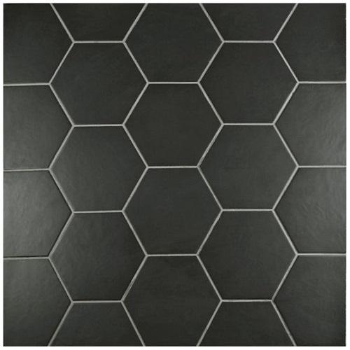 Gạch lục giác màu đen cho không gian quán cà phê trông sang trọng hẳn lên