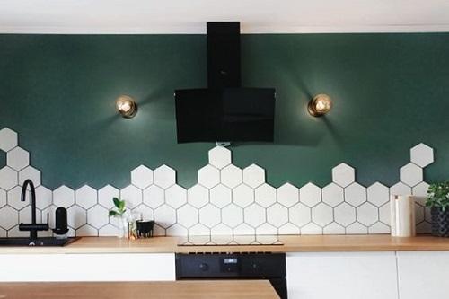 Gạch lục giác màu trắng phòng vệ sinh đã trở thành xu hướng mới trong thiết kế trang trí nội thất