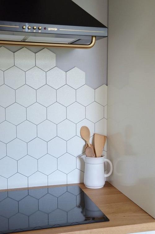 Gạch lục giác màu trắng phòng vệ sinh phù hợp với mọi công trình