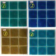 4 Mẫu Gạch Mosaic Men Rạn 10×10 Cm Màu Xanh – Màu Vàng