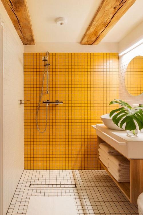 Thêm mảnh ghép gỗ trên trần cho không gian thêm sang trọng
