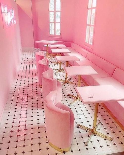 Gạch lát nền màu hồng đang được yêu thích nhất hiện nay