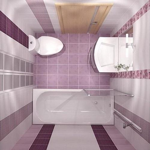 Màu tím phớt hồng kèm hoa văn cho một không gian nhỏ xinh đẹp mắt