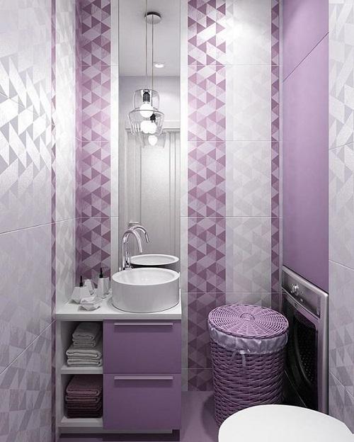 Khi kết hợp với màu trắng, bức tường như những viên kim cương tuyệt đẹp