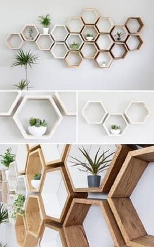 Gạch thẻ màu trắng được kết hợp với gỗ trang trí luôn mang đến cảm giác ấm áp