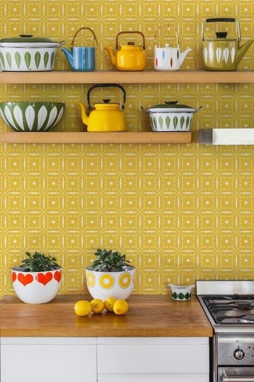 Mẫu gạch này phù hợp với thiết kế tổng quát của cả căn bếp.