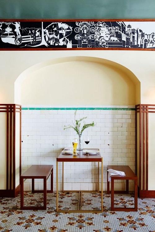 Gạch bông vân cổ điển cho quán cà phê sang trọng