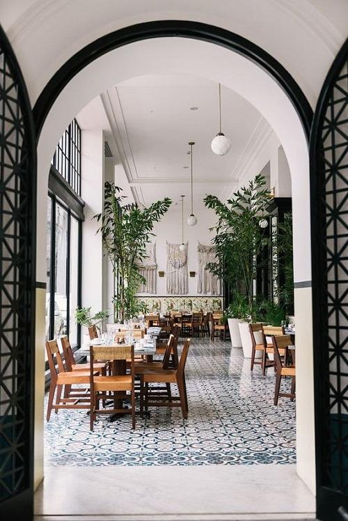 Gạch bông vân cổ điển cho quán cà phê  hút khách