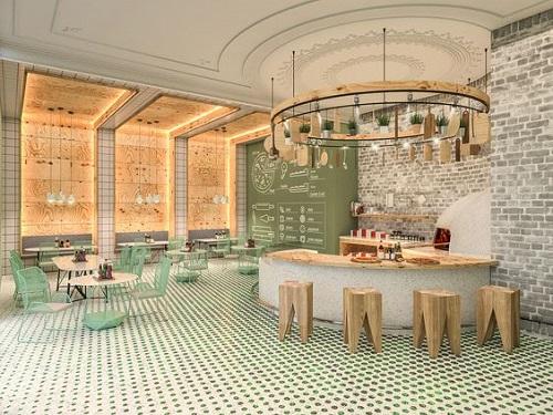 Gạch bông vân cổ điển cho quán cà phê vẻ đẹp trữ tình