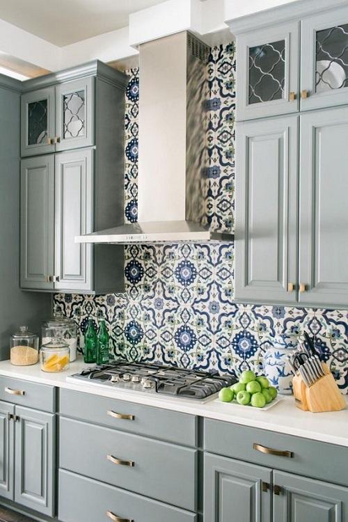 Gạch bông vân cổ điển cho phòng bếp vẻ đẹp cổ điển