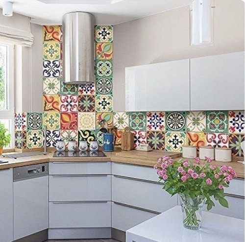 Gạch bông vân cổ điển cho phòng bếp vẻ đẹp trang trọng