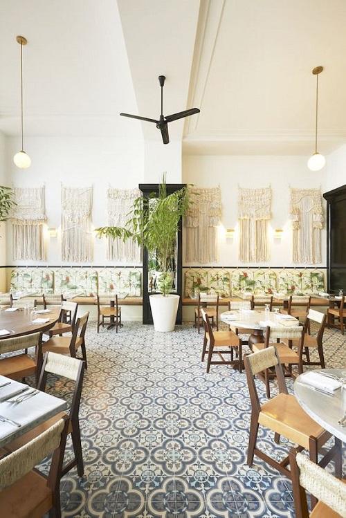 Gạch bông vân cổ điển cho quán cà phê một không gian sang trọng