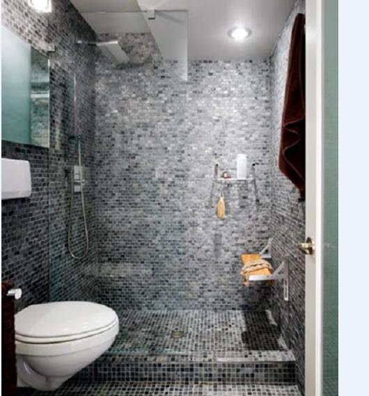 Với phòng vệ sinh thì mẫu gạch có gam màu sáng