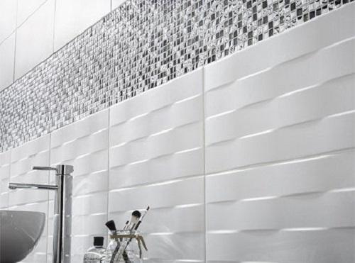 Gạch mosaic thủy tinh màu xám đơn giản