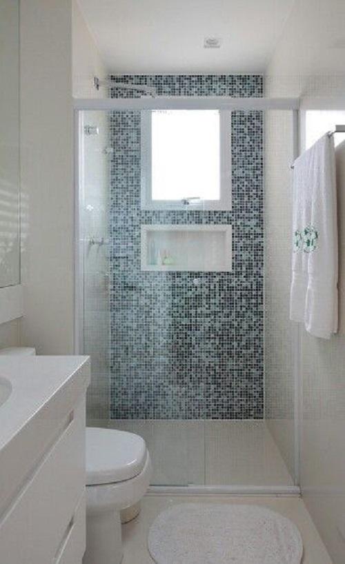 Gạch mosaic thủy tinh màu xám cho một không gian cổ điển