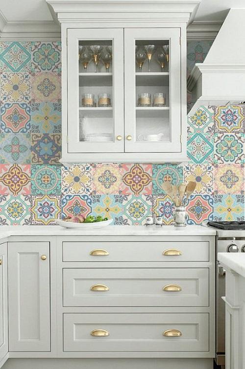 Gạch bông vân cổ điển cho phòng bếp vẻ đẹp thu hút