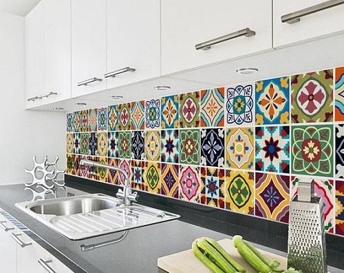 Gạch bông vân cổ điển cho phòng bếp vẻ đẹp trữ tình