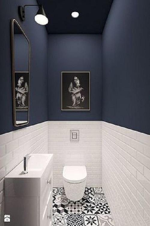 Gạch bông vân cổ điển cho phòng vệ sinh lịch sự