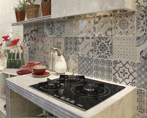 Gạch bông vân cổ điển cho phòng bếp vẻ đẹp thẩm mỹ