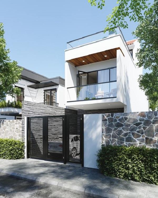 Gạch ốp tường ngoài trời cho ngôi nhà ấn tượng