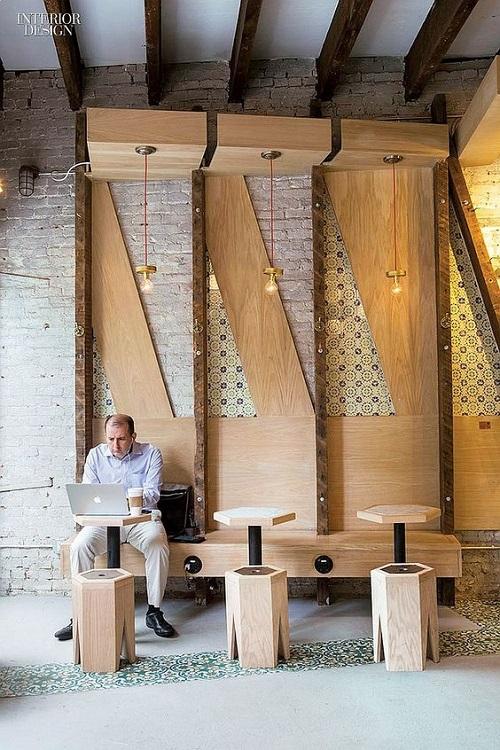 Gạch bông vân cổ điển cho quán cà phê sạch sẽ