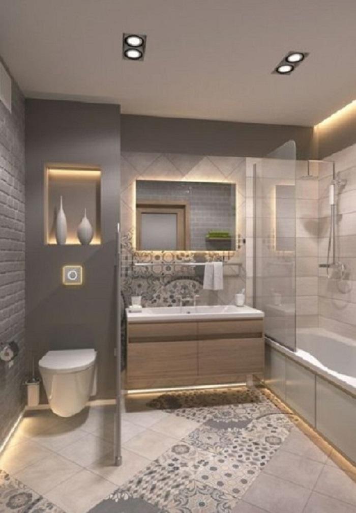 Gạch bông vân cổ điển cho phòng vệ sinh thu hút