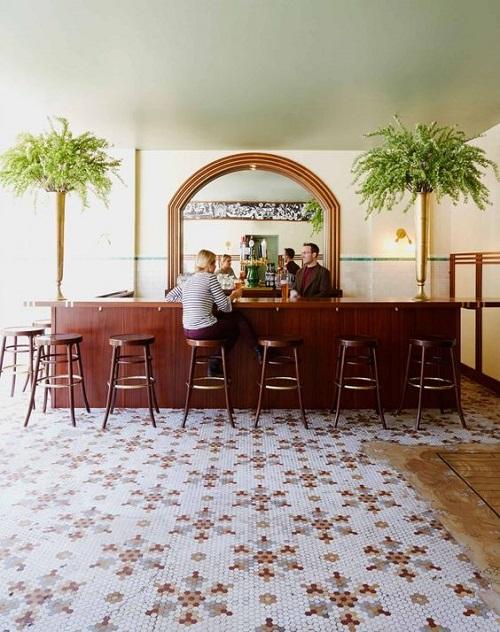 Gạch bông vân cổ điển cho quán cà phê ấn tượng