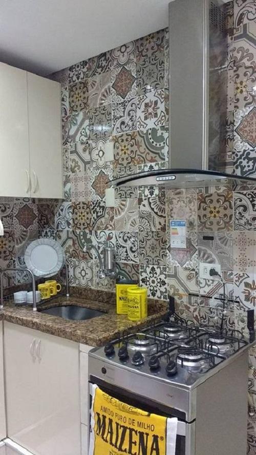 Trang trí bằng Gạch bông vân cổ điển cho phòng bếp sang trọng