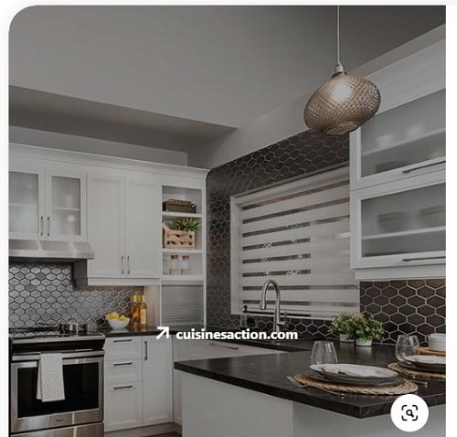 Gạch lục giác màu đen cho phòng bếp vẻ đẹp ấn tượng
