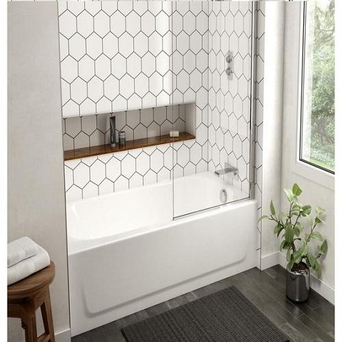 Gạch lục giác màu trắng giúp làm nổi bật phòng vệ sinh của bạn