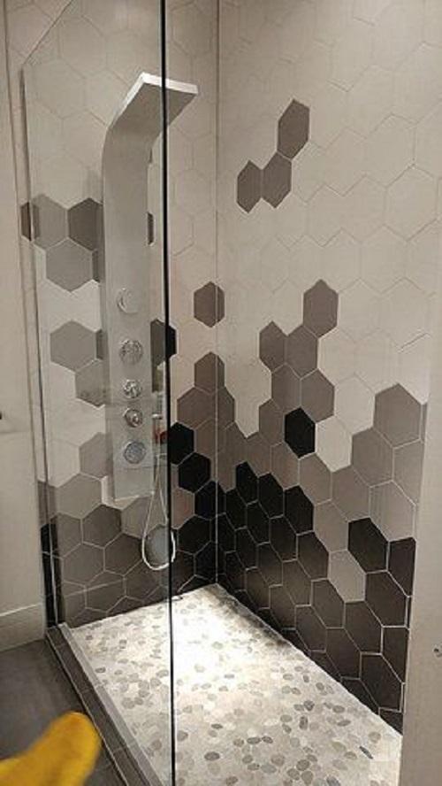 Gạch lục giác màu xám cho phòng vệ sinh thu hút