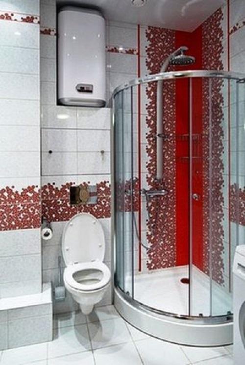 Gạch mosaic màu hồng cho phòng vệ sinh nổi trội