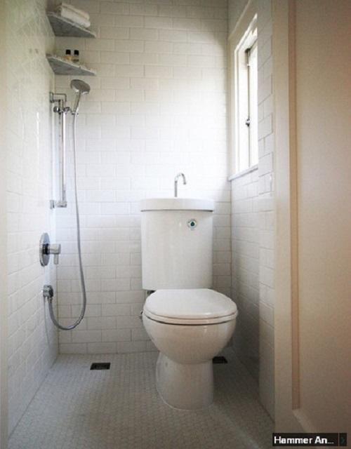 Gạch thẻ màu trắng cho phòng vệ sinh nổi trội