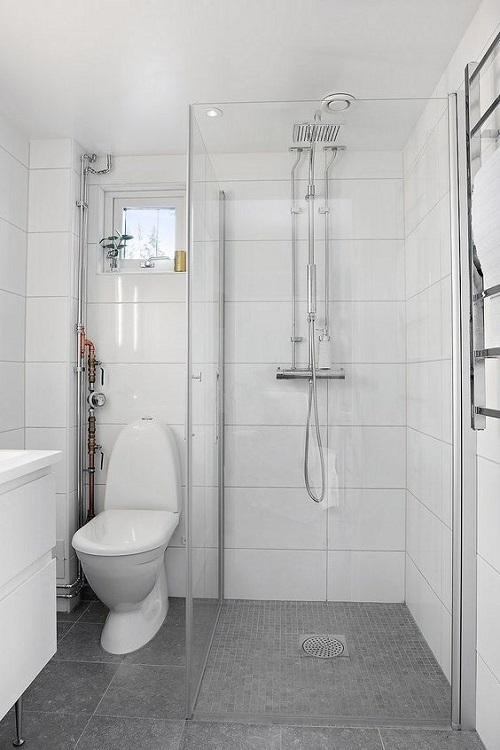 Gạch thẻ màu trắng cho phòng vệ sinh