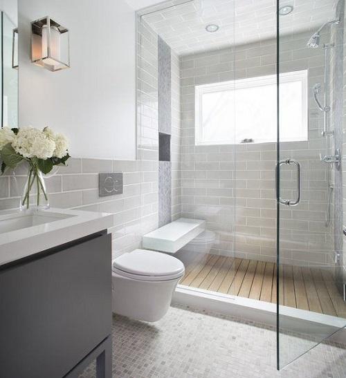 Gạch thẻ màu trắng cho phòng vệ sinh sạch sẽ
