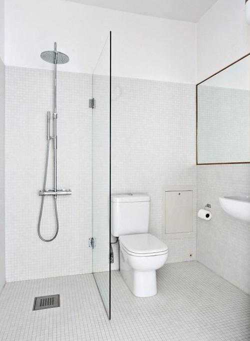 Gạch thẻ màu trắng cho phòng vệ sinh lịch sự