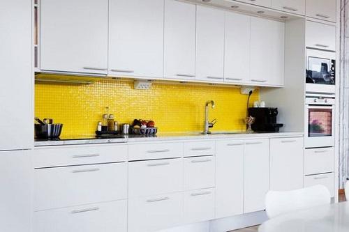 Giúp cho không gian phòng bếp cuốn hút hơn mà còn rất bắt mắt, ấn tượng