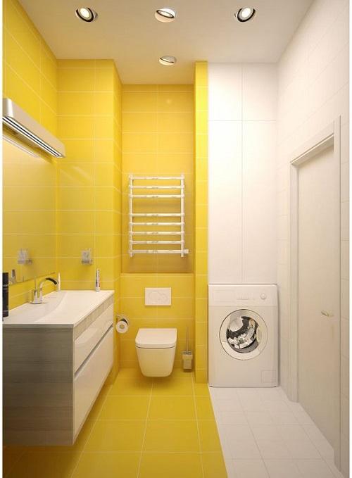 Gạch thẻ màu vàng cho phòng vệ sinh thoáng mát