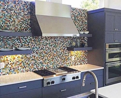 Gạch mosaic màu xanh mang lại cảm giác thư giãn