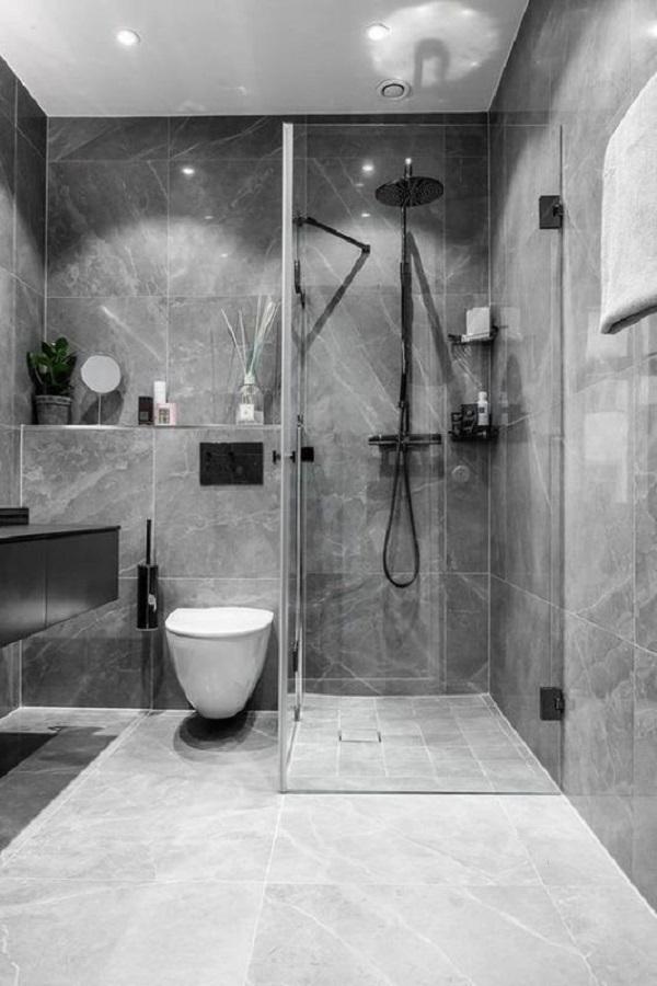 Trang trí bằng mẫu gạch này cho phòng vệ sinh dễ lau dọn