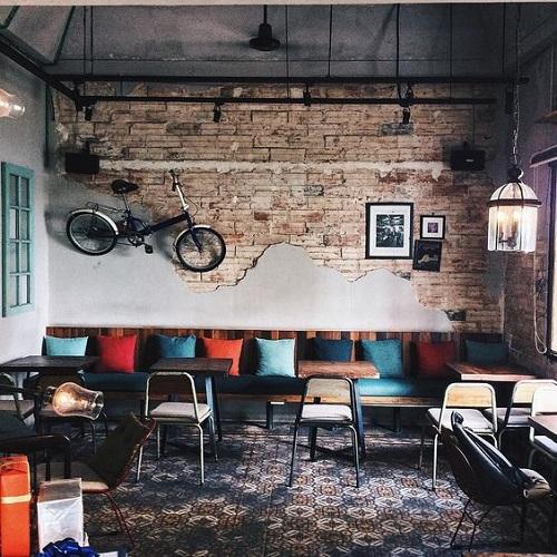 Trang trí bằng gạch bông cổ điển cho quán cà phê vẻ đẹp nổi bật