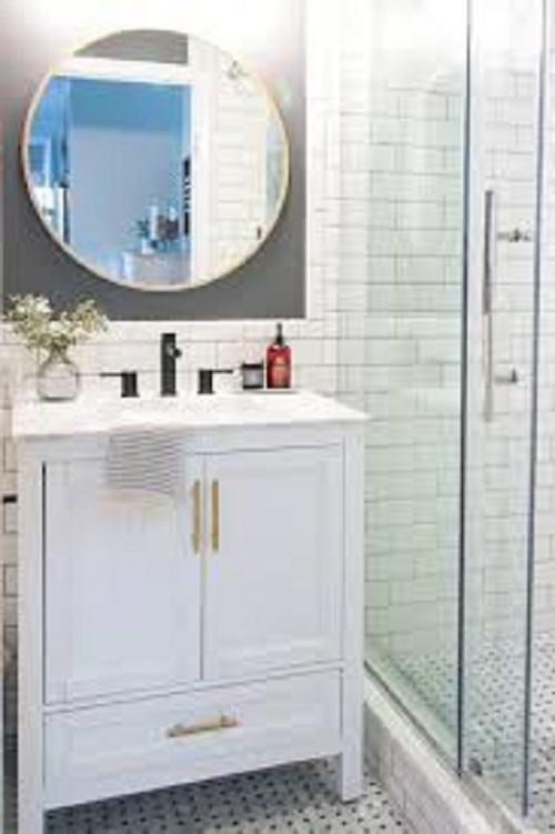 Gạch thẻ màu trắng cho phòng vệ sinh thu hút