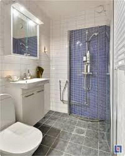 Gạch thẻ màu xám cho phòng vệ sinh chính là sự lựa chọn hoàn hảo