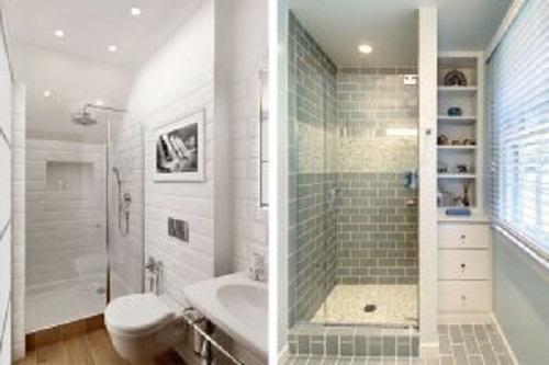 Gạch thẻ màu xám cho phòng vệ sinh vẻ đẹp ấn tượng
