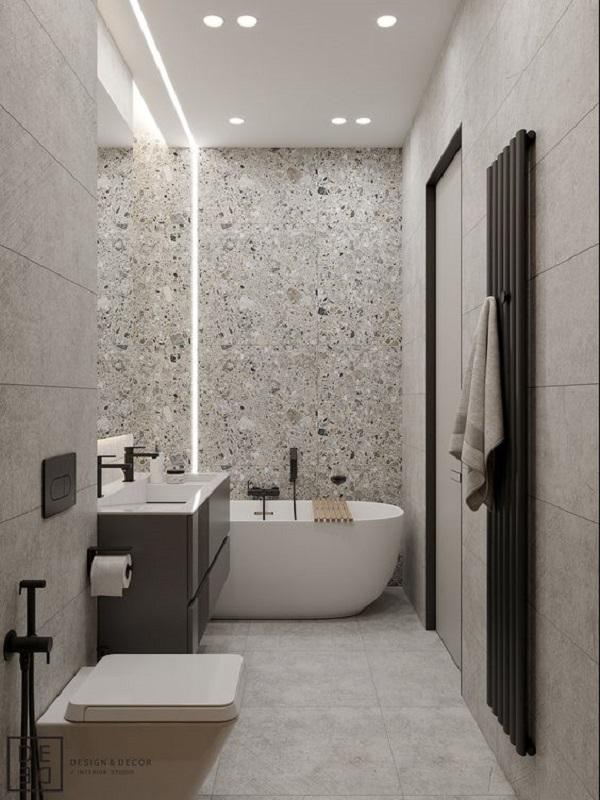 Mẫu gạch này giúp làm nổi bật phòng vệ sinh