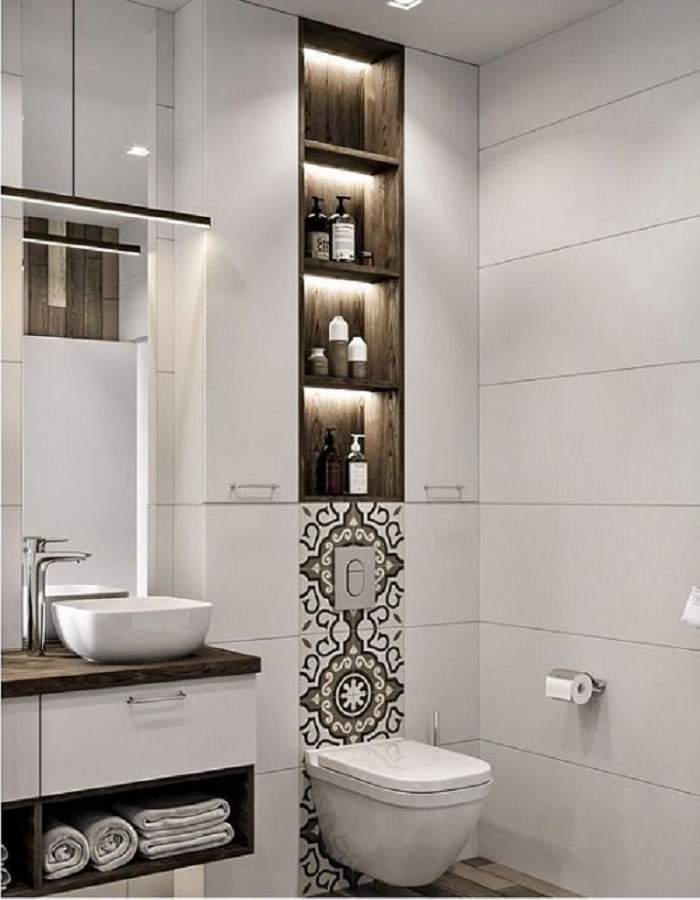 Gạch bông vân cổ điển cho phòng vệ sinh nổi trội