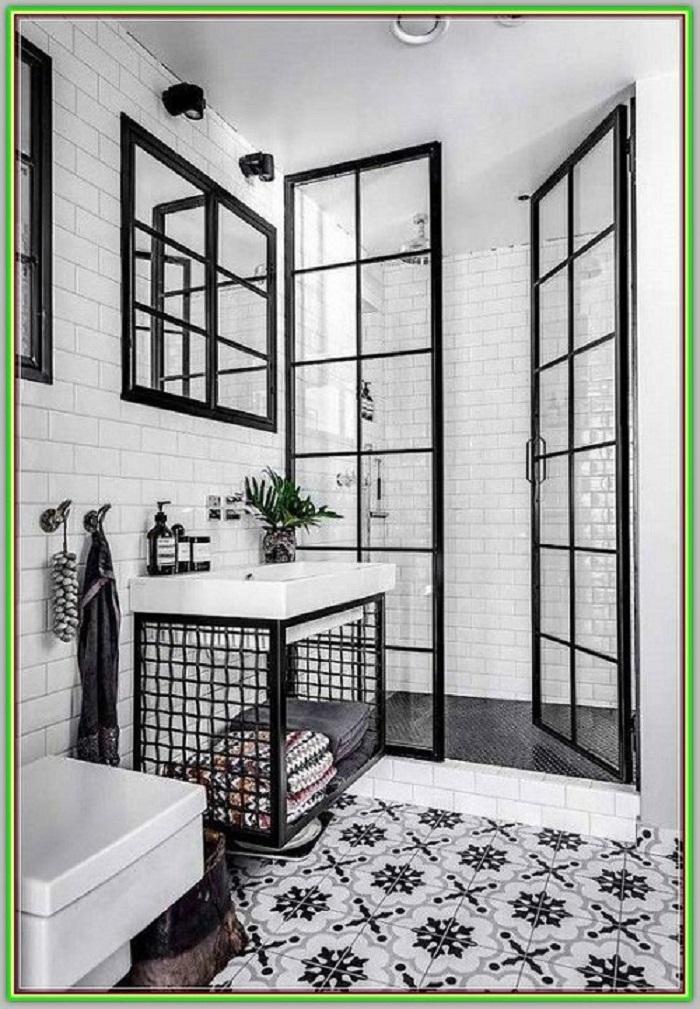 Gạch bông vân cổ điển cho phòng vệ sinh trông rộng rãi, thoáng đãng