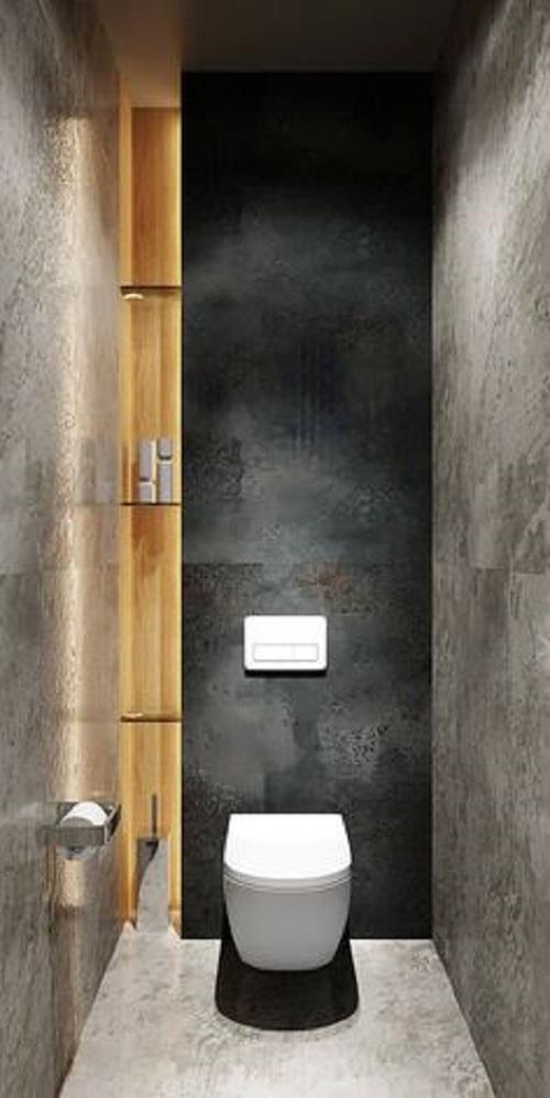 Gạch thẻ màu đen cho phòng vệ sinh độ an toàn cao