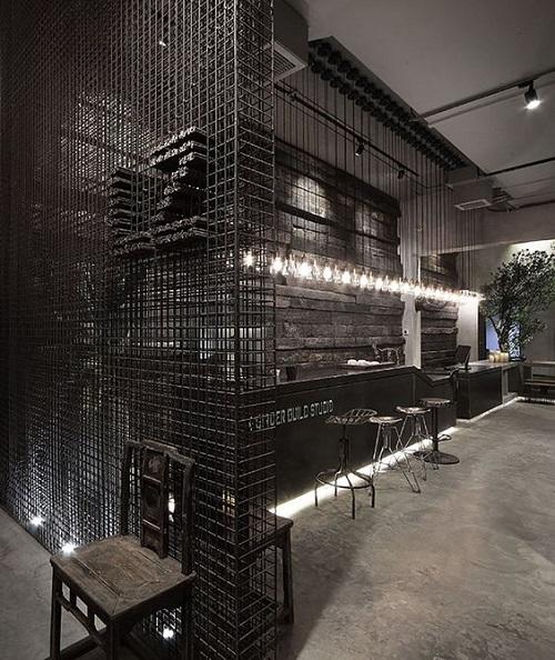 Gạch thẻ màu đen cho quán cà phê chính là sự lựa chọn hoàn hảo